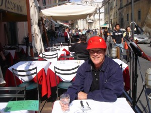 Bill at Florence, Italy cafe