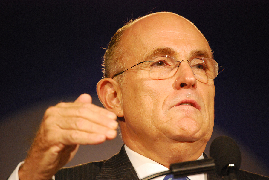 WASHINGTON DC  OCT 20: Former New York Mayor Rudy Giuliani speaking at Washington Briefing 2007: Values Voter Summit on October 20, 2007, at the Hilton Hotel in downtown Washington DC.