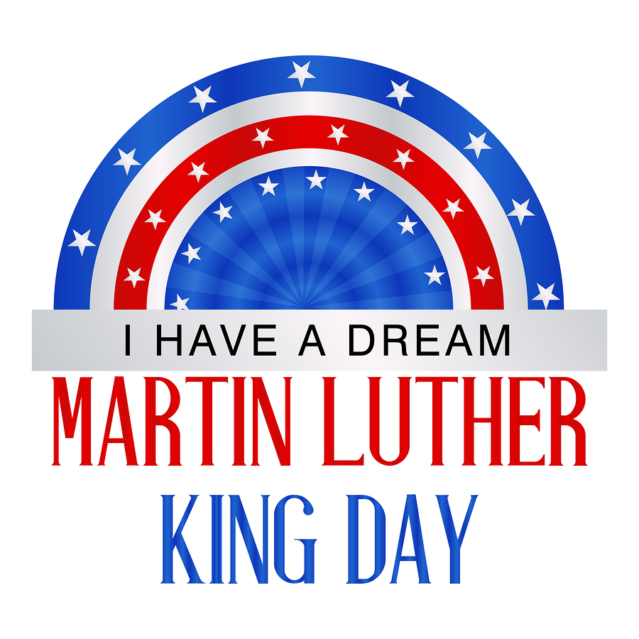illustration of Martin Luther King Day background.